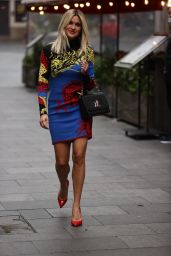 Ashley Roberts in a Multicoloured Print Dress - Heart Radio in London 10/01/2020