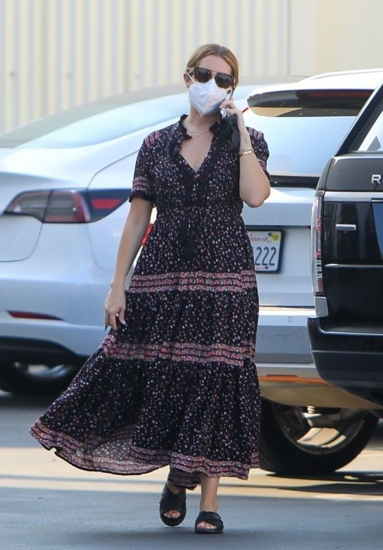 Ashley Tisdale at a Studio in Los Angeles 10/16/2020