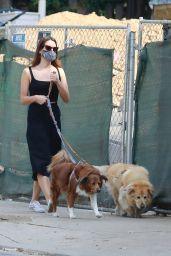 Aubrey Plaza - Walking Her Dogs in LA 10/04/2020