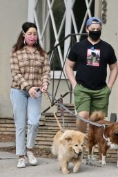 Aubrey Plaza - Walking Her Dogs in LA 10/24/2020