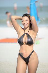 Bella Bunnie Amor in a Bikini at a Beach in Miami 10/07/2020