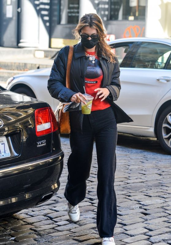 Bella Hadid - Arriving Back Home in New York 10/14/2020