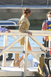 Bella Hadid in a Blazer Dress - New York 10/16/2020