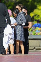 Bella Hadid - Photoshoot at Central Park in New York 10/17/2020