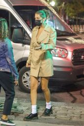 Bella Hadid Street Style - New York at Night 10/16/2020