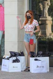 Bella Thorne in Jeans Shorts - Kingdom Boutique in Calabasas 10/01/2020