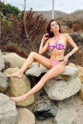 Blanca Blanco in a Pink Bikini at the Beach in Malibu 10/25/2020