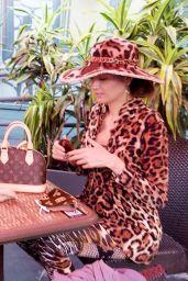 Blanca Blanco in an Animal Print Outfit - Bossa Nova in LA 10/18/2020