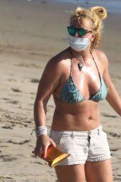 Britney Spears in a Bikini at a Beach in Malibu 10/15/2020