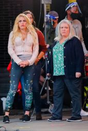 """Busy Philipps - """"Girls5Eva"""" Filming in NYC 10/22/2020"""