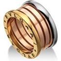 Bvlgari B.zero1 Four Band Ring in 18 Kt Pink White and Yellow Gold