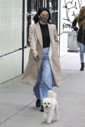 Camila Mendes - Walking Her Dog in Vancouver 10/27/2020