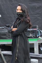 "Candice Patton - ""The Flash"" Season 7 Set in Vancouver 10/14/2020"