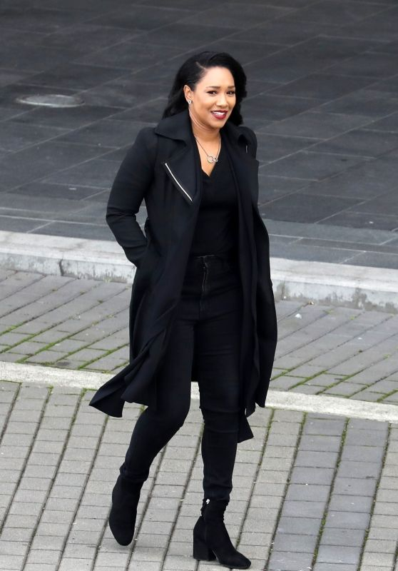"Candice Patton - ""The Flash"" Season 7 Set in Vancouver 10/14/2020"