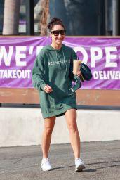 Cara Santana in 21 Hoodie - Los Angeles 10/05/2020