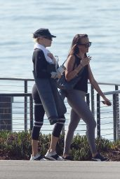 Charlotte McKinney - Exercising at The Beach in LA 10/12/2020