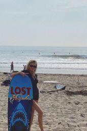 Charlotte McKinney in a Bikini Top - Beach in LA 10/05/2020
