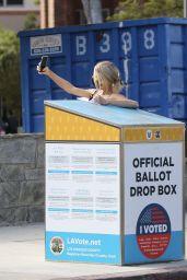 Charlotte McKinney - Voting in LA 10/25/2020