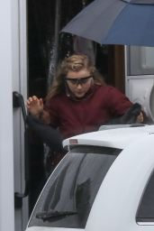 """Chloe Grace Moretz - Leaving Her Trailer to go to the Set of """"Mother/Android"""" in Boston 10/10/2020"""