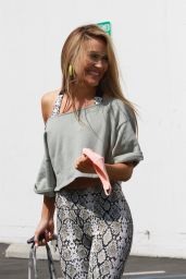 Chrishell Stause - Arriving at the DWTS Studio in Los Angeles 10/07/2020