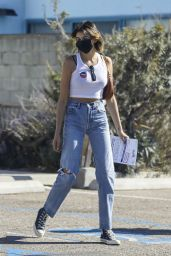 Cindy Crawford and Kaia Gerber - Out to Vote in Malibu 10/30/2020