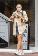 Dakota Fanning Wearing Two Masks - Studio City 10/22/2020