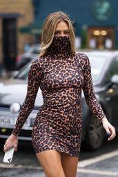 Delilah Hamlin in Leopard Print Mask Dress - London 10/13/2020