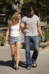 Denise Richards - With Her Husband in Calabasas 10/15/2020