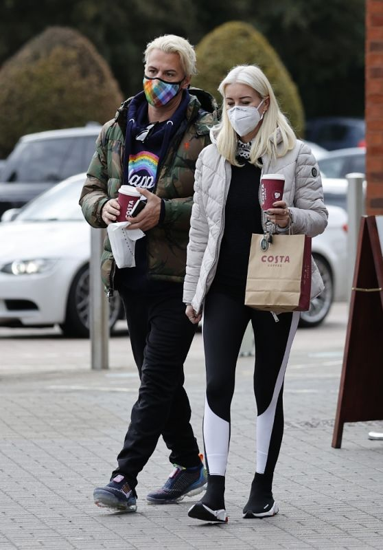 Denise Van Outen and Matt Evers - Out in Essex 10/16/2020