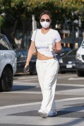 Dorothy Wang in a White Ensemble - Beverly Hills 10/28/2020