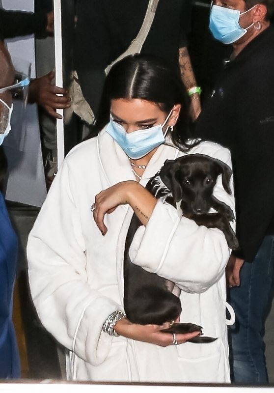Dua Lipa - Leaving the Set of Her New Video Clip in NY 09/30/2020