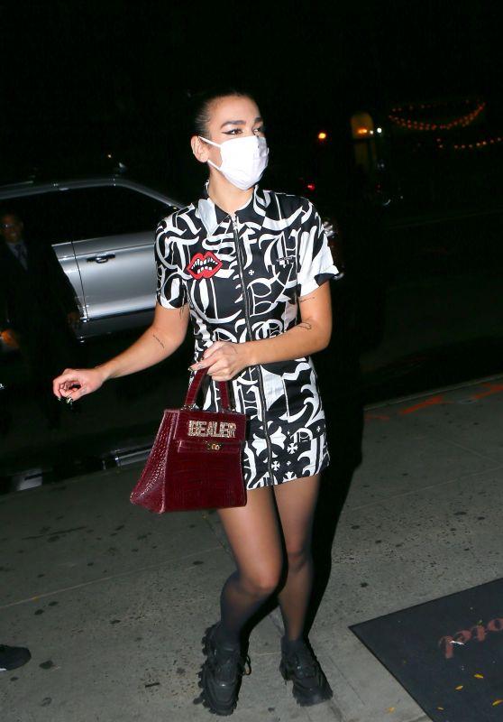 Dua Lipa - Returning to the Bowery Hotel in New York 10/01/2020