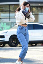 Eiza Gonzalez Street Style - Getting Coffee in LA 10/28/2020