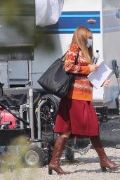 "Elizabeth Olsen - Filming Scenes for the Marvel Cinematic Universe Show ""WandaVision"" in LA 10/09/2020"