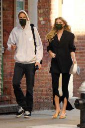 Elsa Hosk With Her Boyfriend - Out in SoHo, New York 09/30/2020