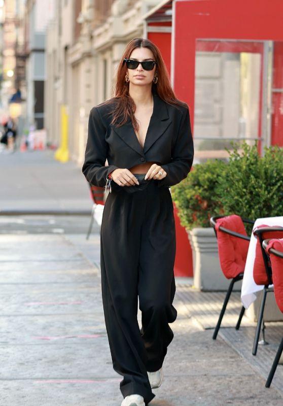 Emily Ratajkowski in a Nasty Gal Outfit - Tribeca 10/07/2020