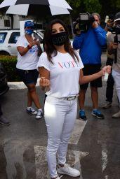 Eva Longoria at Ana Navarro Rally in Miami 09/30/2020