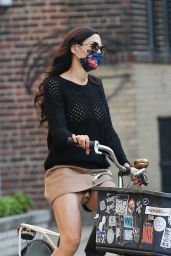 Famke Janssen - Bike Ride in NY 10/09/2020
