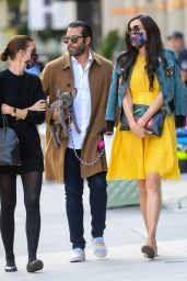 Famke Janssen in a Yellow Dress - Manhattan 10/15/2020