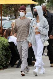 Hailey Bieber and Justin Bieber at the Honor Bar in Santa Barbara 10/10/2020