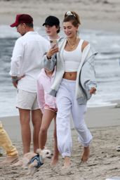 Hailey Bieber and Justin Bieber - Beach Day in Santa Barbara 10/10/2020