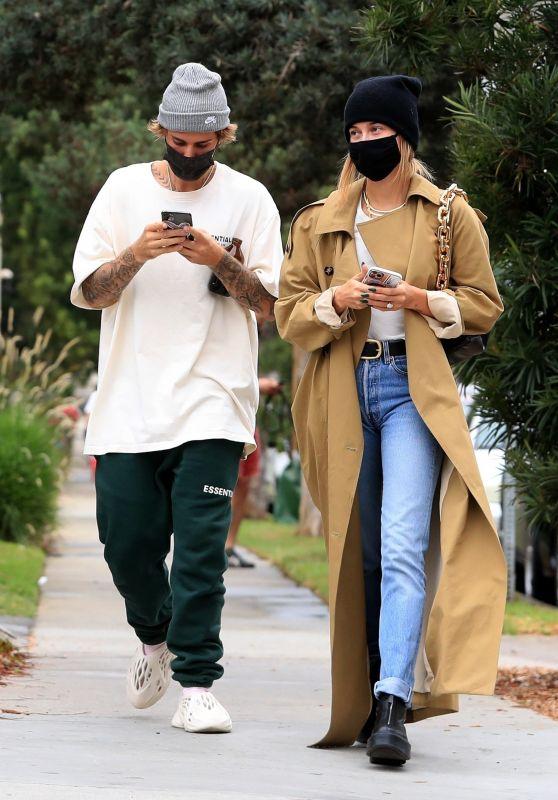 Hailey Bieber and Justin Bieber - Running errands in Brentwood 10/22/2020