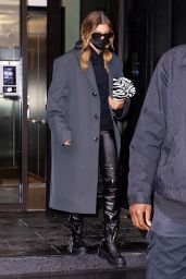 Hailey Bieber - Outside Her Home in NYC 10/16/2020