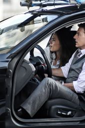 """Hayley Atwell and Tom Cruise - """"Mission Impossible 7"""" Set in Rome 10/06/2020"""