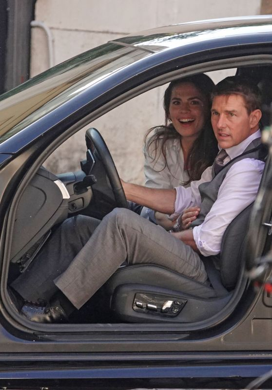 "Hayley Atwell and Tom Cruise - ""Mission Impossible 7"" Set in Rome 10/06/2020"