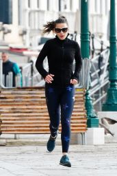 Hayley Atwell - Out Jogging in Venice 10/29/2020
