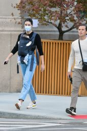 Hilary Rhoda - Out in New York With Her Newborn 10/09/2020