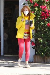 Isla Fisher in a Pink Leggings in Studio City 10/28/2020