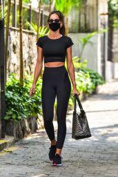 Izabel Goulart - Sporty Look in Sao Paulo 10/14/2020