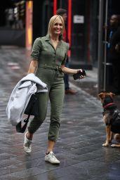 Jenni Falconer in Green Cargo Suit - London 10/08/2020